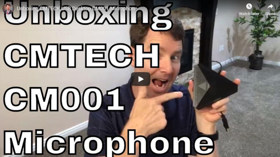 Unboxing CMTECK USB Desktop CM001 Microphone